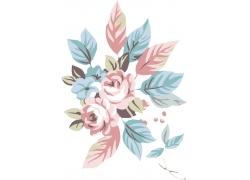 水粉画花朵
