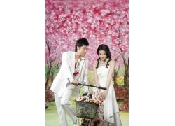 婚纱摄影背景油画