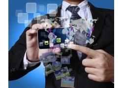 智能手机与商务男士