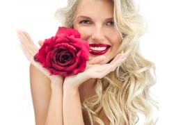 玫瑰花与女人
