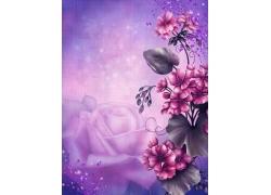 梦幻唯美鲜花背景
