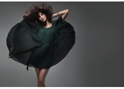 时尚裙子服装模特美女