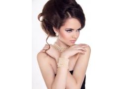 时尚珠宝首饰模特美女
