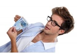 外国男人与美元