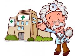 拿听诊器的医生