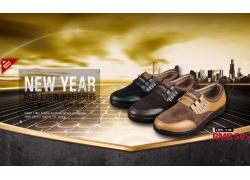 休闲皮鞋淘宝促销海报