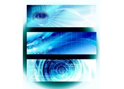 蓝色科技展板背景