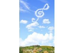 蓝天上的白云乐符