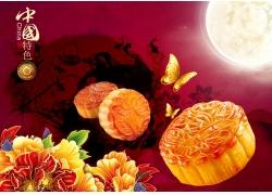 中国特色月饼海报