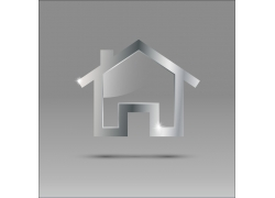 金属房子logo设计