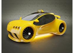 黄色汽车模型
