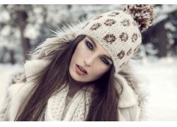 时尚冬季服饰模特美女