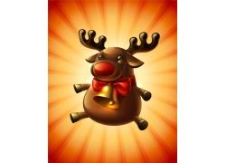 卡通麋鹿圣诞背景