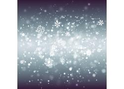 梦幻雪花圣诞背景