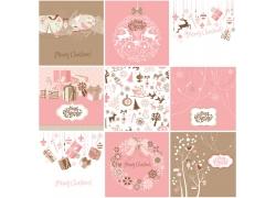 粉色圣诞背景模板