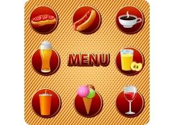 美食饮品背景素材