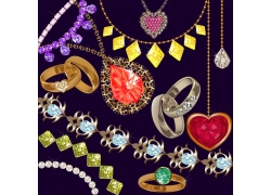 精美的宝石和项链背景素材