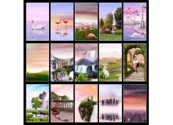 自然风景摄影背景