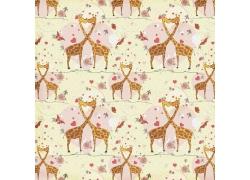 爱情长颈鹿背景