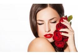 玫瑰花语性感美女