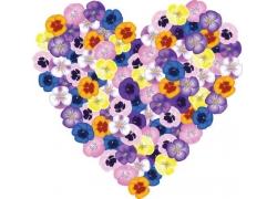 花团锦簇的心形