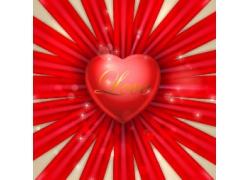 红心丝带设计