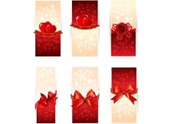 红色系明亮情人节横幅设计