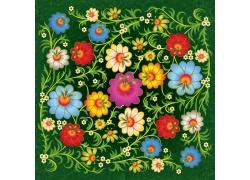 鲜花花纹背景