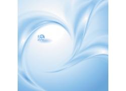 蓝色曲线珠宝背景素材