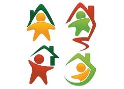 卡通房子logo