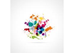 彩色涂鸦墨迹背景