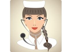 带听诊器的护士